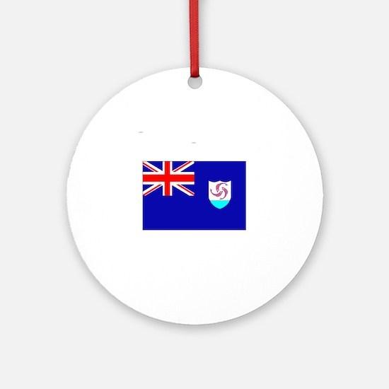 Anguilla Flag II Ornament (Round)