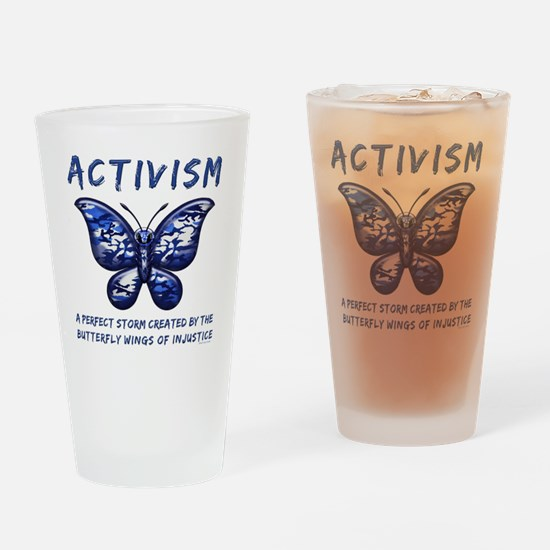 Activism Drinking Glass