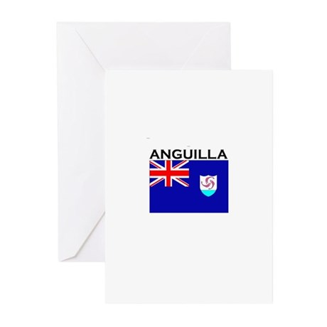 Anguilla Flag III Greeting Cards (Pk of 10)
