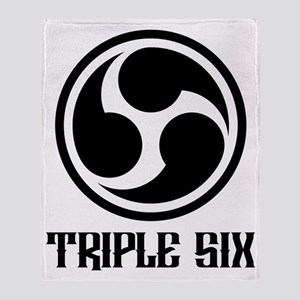 666 Triple Six Font (black) Throw Blanket