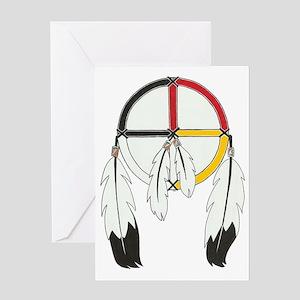 Feathered Medicine Wheel Greeting Card