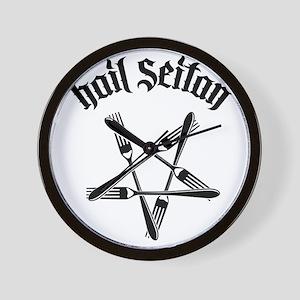 Hail Seitan 1.2 Wall Clock