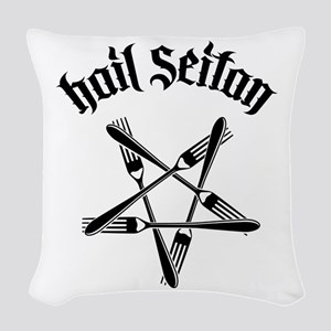 Hail Seitan 1.2 Woven Throw Pillow