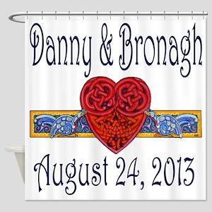 Danny  Bronagh Love Knot Shower Curtain