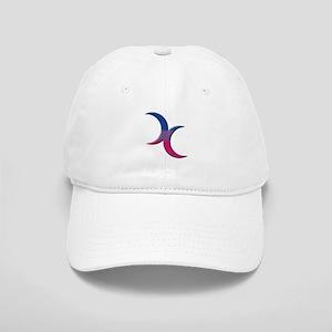 Crescent Moons Symbol - Bisexual Pride Flag Baseba