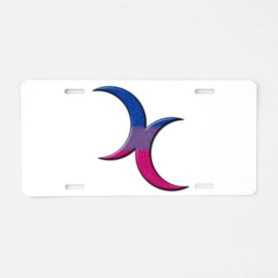 Crescent Moons Symbol - Bisexual Pride Flag Alumin