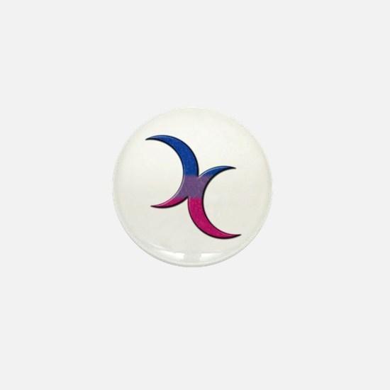 Crescent Moons Symbol - Bisexual Pride Flag Mini B