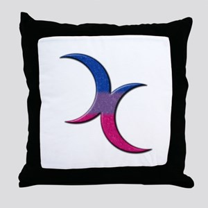 Crescent Moons Symbol - Bisexual Pride Flag Throw