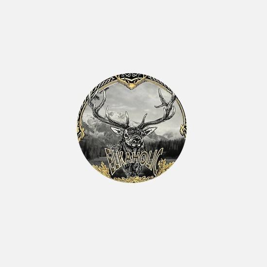 Elkaholic Gold Mini Button