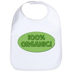 100% Organic (green) Bib