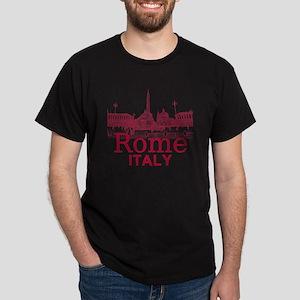 Rome_12X12_v1_Red_Piazza del Popolo Dark T-Shirt