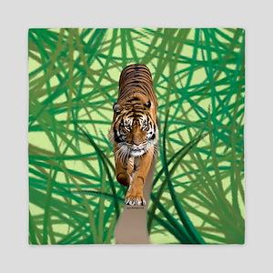 Tiger in the jungle Queen Duvet
