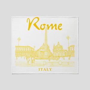 Rome_10x10_v1_Yellow_Piazza del Popo Throw Blanket