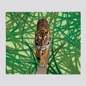 Tiger in the jungle Throw Blanket