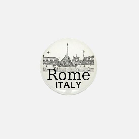 Rome_12X12_v1_Black_Piazza del Popolo Mini Button