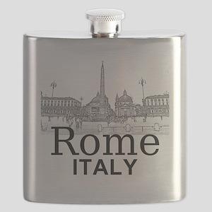 Rome_12X12_v1_Black_Piazza del Popolo Flask