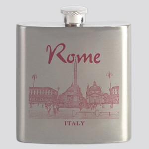 Rome_10x10_v1_Red_Piazza del Popolo Flask