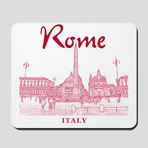 Rome_10x10_v1_Red_Piazza del Popolo Mousepad