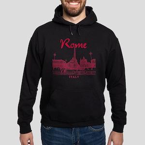Rome_10x10_v1_Red_Piazza del Popolo Hoodie (dark)