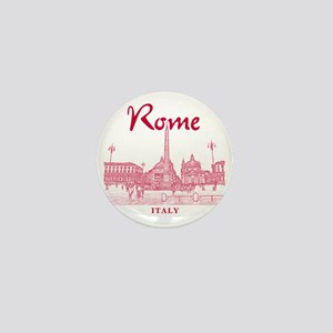 Rome_10x10_v1_Red_Piazza del Popolo Mini Button