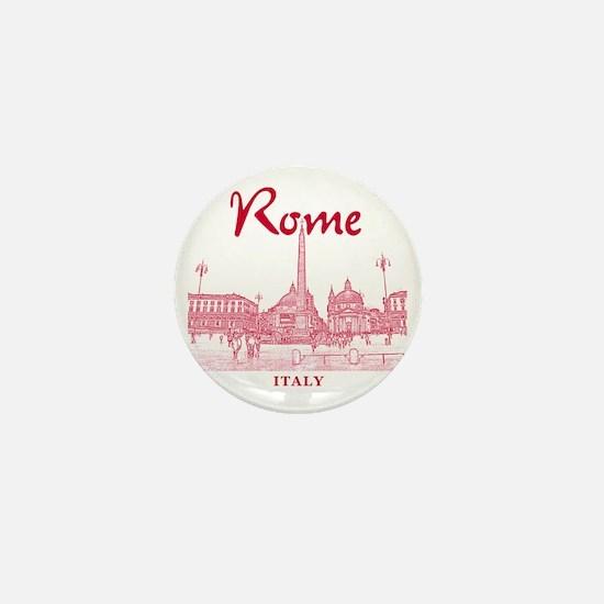 Rome_10x10_v1_Red_Piazza del Popolo Mini Button