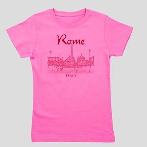 Rome_10x10_v1_Red_Piazza del Popolo Girl's Tee