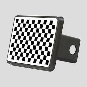 Black and white checkerboa Rectangular Hitch Cover
