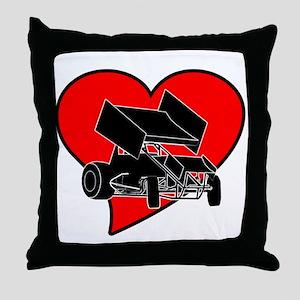 SprintHeart Throw Pillow