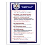 10 Articles of Faith Poster
