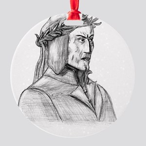 Dante Alighieri Round Ornament