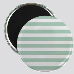Mint and Cream Stripes Magnet