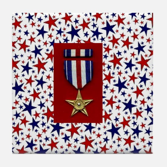 Silver Star Tile Coaster