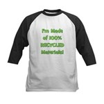 Made of 100% Recycled (green) Kids Baseball Jersey