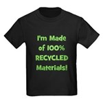 Made of 100% Recycled (green) Kids Dark T-Shirt