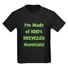 Made of 100% Recycled (green) T