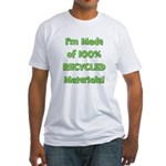 Made of 100% Recycled (green) Fitted T-Shirt