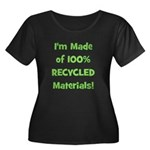 Made of 100% Recycled (green) Women's Plus Size Sc