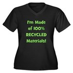 Made of 100% Recycled (green) Women's Plus Size V-