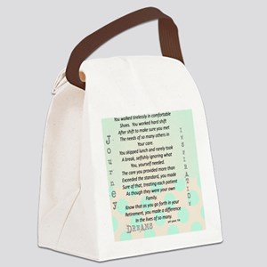 Retired Nurse Poem Canvas Lunch Bag