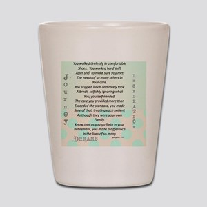Retired Nurse Poem Shot Glass