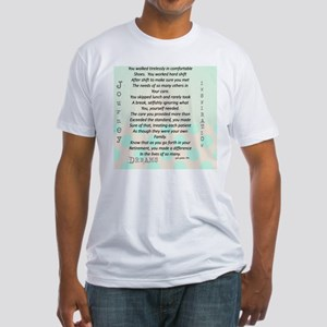 Retired Nurse Poem Fitted T-Shirt
