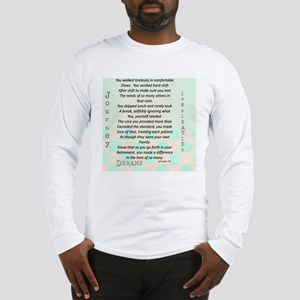 Retired Nurse Poem Long Sleeve T-Shirt