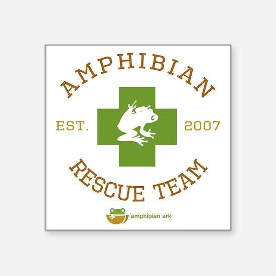"""Amphibian Rescue Team Square Sticker 3"""" x 3"""""""
