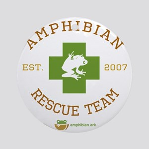 Amphibian Rescue Team Round Ornament