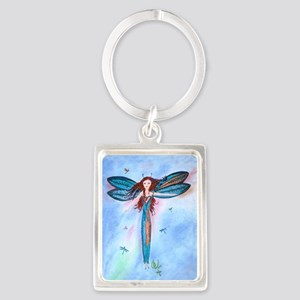 Dragon Fairy Portrait Keychain