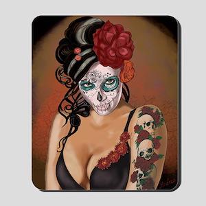 Skulls and Roses Muertos Mousepad
