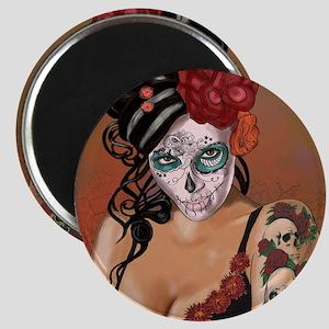 Skulls and Roses Muertos Magnet