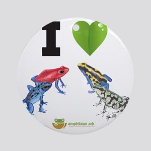 I heart poison dart frogs Round Ornament