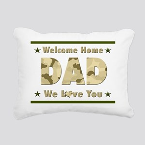 Welcome Home Dad Rectangular Canvas Pillow