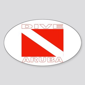 Dive Aruba Oval Sticker